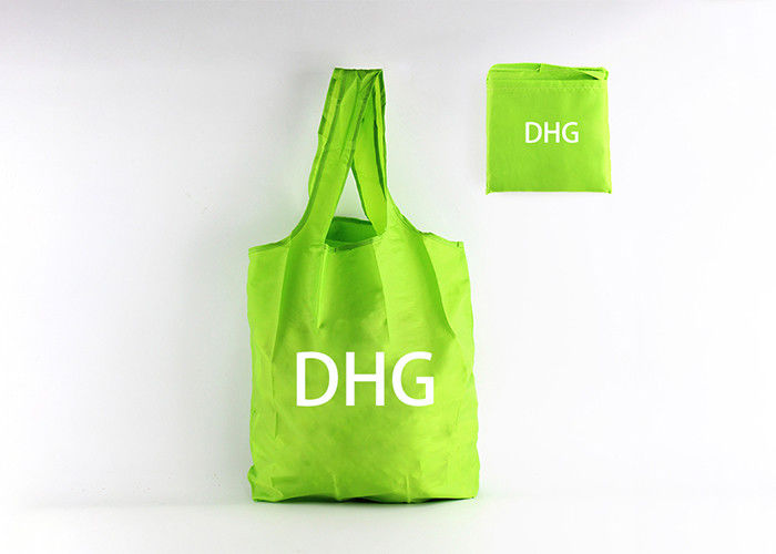 Green Color Custom Logo Foldable Reusable Tote Bags For Promotional Use